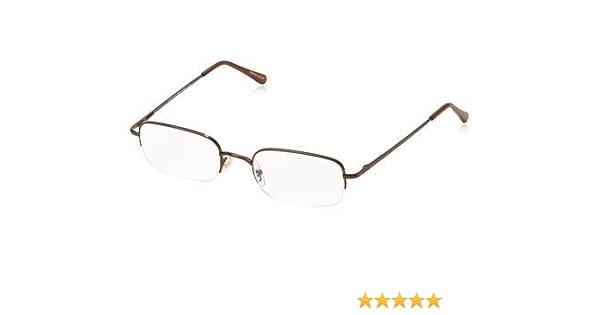 5bf27b2555 Amazon.com  Foster Grant Essential Harrison +2.00 Men s Brown Metal  Rectangular Semi-Rimless Reading Glasses  Health   Personal Care