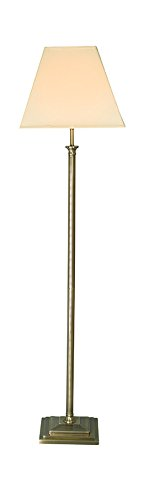 Village At Home Nelson Floor Lamp, Metal, B22, Antique Brass