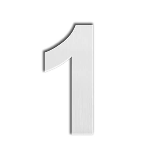 - QT Modern House Number - SUPER LARGE 12 Inch - Brushed Stainless Steel (Number 1 One), Floating Appearance, Easy to install and made of solid 304