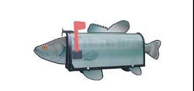 Bass Fish Rural Mailbox Post ()