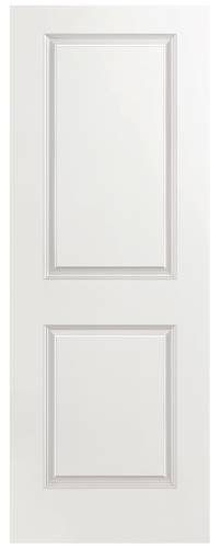 Masonite 2-Panel Hollow Core Slab Door, Smooth Finish, Primed White, 32X80 in.