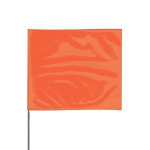 4'' x 5'' x 24'' Stake Orange Glo PVC Wire Stake Flag 100Ct