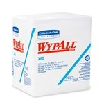 Wypall X60 1/4-Fold White Wipes, 12.5'' X 13'', 76/Pack, 12 Packs/Case