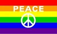 NEOPlex 3' x 5' Rainbow Peace Sign Novelty Flag