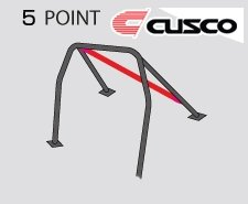 Cusco Roll Cage (Cusco 566 261 K Roll Cage (08-13 Mitsubishi EVO 10 Cz4A 5 Point Chromo 5 Passengers))