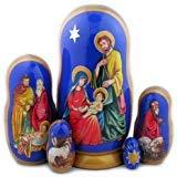 Russian Matreshka Matryoshka Nativity Of Christ 5 Piece Nesting Doll 7 Inch