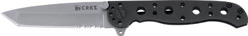CRKT M16-10S EDC Folding Pocket Knife: Everyday Carry, Serrated Edge Blade, Tanto, Frame Lock, Stainless Steel Handle… 1 Frame Lock Stainless Steel Handles Triple Point Serrations