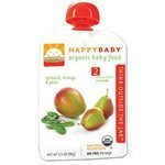 Happy Family Brands Organic Baby Food Spinach, Mango & Pear Stage 2 (6+ mos.) 3.5 oz.