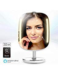 Hi Mirror Mini 32 G. Beauty Mirror, With Double Memory Capacity, Smart Vanity Makeup Mirror With Skin Analyzer, 2 X 3 Magnifier Mirror, Mirror With Led Makeup Lights. by Hi Mirror
