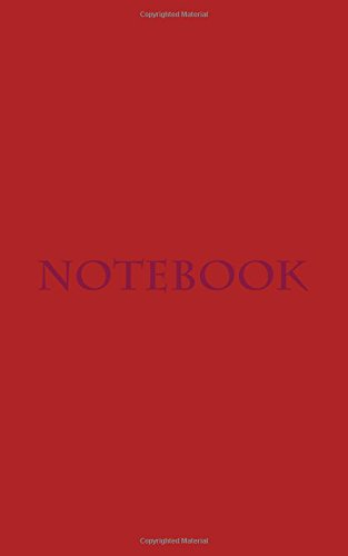 Pdf Money Notebook: Classic Premium Writing Notebook, Journal, Diary, 5'x8', 100 lined pages, Dark Red