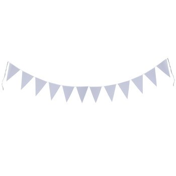 Mixed Media White Ready-to-Decorate Banner with 12 Pennants 8x12 inches each ()