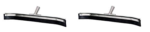 Haviland 036C Synthetic Rubber Buna Blend Standard Duty Curved Floor Squeegee, 36'' Length, Black (2-Pack) by Haviland (Image #1)