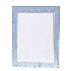 Gartner(TM) Studios Holiday Stationery Sheets, Blue Watercolor Snowflake, 8 1/2in. x 11in, Pack of 80 Sheets ()