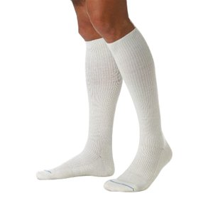 ActiveWear 30-40 mmHg Firm Support Unisex Athletic Knee High Support Sock Size: Small, Color: Cool White