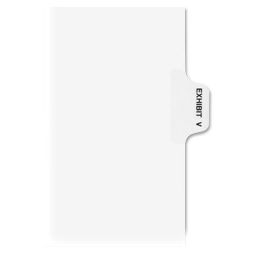 Avery Individual Legal Dividers, Letter Size, Exhibit V (01392) for sale
