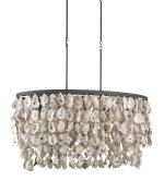 Currey and Company 9492 Stillwater – Five Light Chandelier, Blacksmith/Natural Finish
