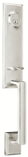 Weslock 06681-N--002D Woodward I Exterior Entry Handle, Satin Nickel