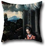 (Throw Pillow Case Of Oil Painting Dei Filippi's Workshop - The Virgin Worships The Child,for Study Room,her,dance Room,lover,kitchen,chair 18 X 18 Inches / 45 By 45 Cm(each Side))