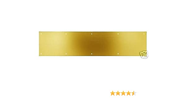 "Kwikset Society Brass 90610-005 Polished Brass 6 x 34/"" Kick Plate"