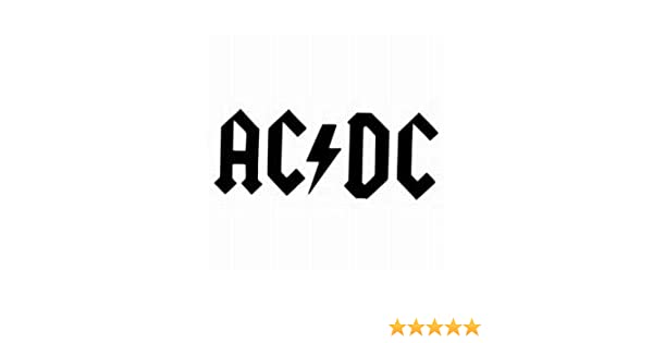 1st-Class-Designs ACDC Funny Symbol Funny Bumper Sticker Car Van Bike Sticker Decal Free P&P
