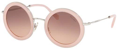 - Miu Miu Women's 0MU 59US Opal Pink/Pink Gradient Dark Brown One Size