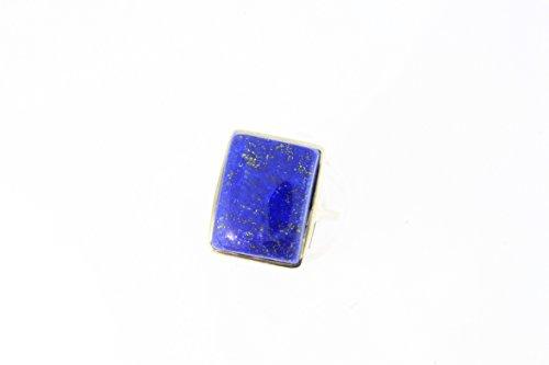 Bague en Lapis-lazuli 54-10 - Bijoux en argent rhodié et Lapis-lazuli - Toutes tailles et diverses pierres - ARTIPOL