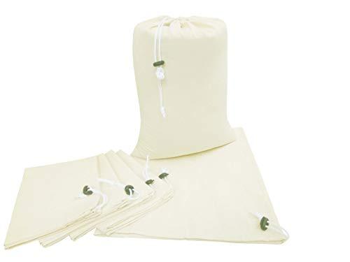 Linen Clubs Paquete de 6 Bolsas de algodón para la Colada, Natural, 22x27 Inch, 6