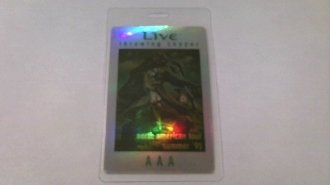 1995 Live Laminated Backstage Pass Refractor Throwing Copper