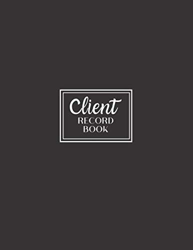 Client Record Book: Personal Client Tracking Log with A-Z Alphabetized Tabs for Hair Stylists, Barbers, and More Professional Black