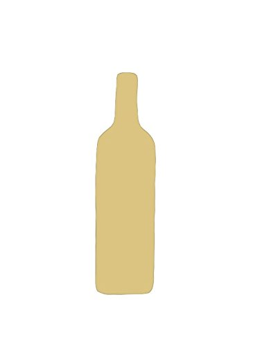 Bottle Cutout Unfinished Wood Champagne Liquor Wine Fifth Alcohol Bar Drink Drunk MDF Shape Canvas Style 1 12quot
