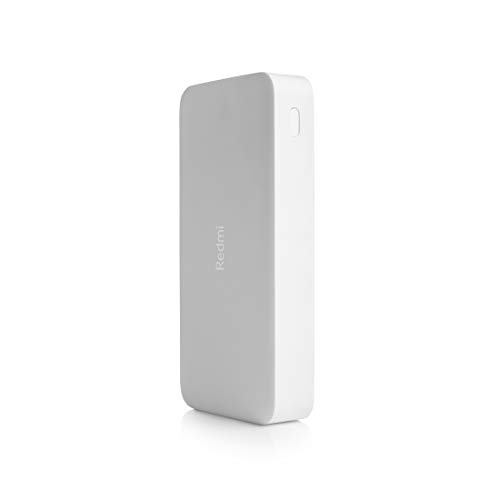 Redmi 20000mAh Li-Polymer Power Bank (White), USB Type C and Micro USB Ports | 18W Fast Charging