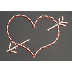 Impact Innovations Lighted Window Decoration, Heart and Arrow