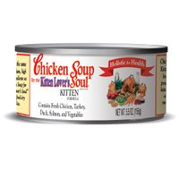 Chicken Soup for the Kitten Lover's Soul Canned Food, Chicken Formula (Pack of 24, 5.5 Ounce Cans), My Pet Supplies