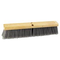Boardwalk Floor Brush Head, 18 inch Wide, Flagged Polypropylene Bristles by Boardwalk