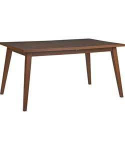 solid walnut veneer hygena retro dining table extending 15m 18m - Dining Table Retro
