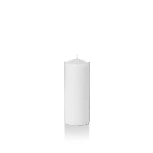 """Yummi 2.25"""" x 5"""" White Slim Round Pillar Candles - 4 per pack"""