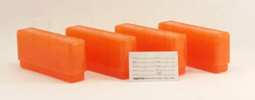 BERRY'S Plastic Ammo Box, Orange 20 Round 243/308 (4) (Winchester 308 Ammo)
