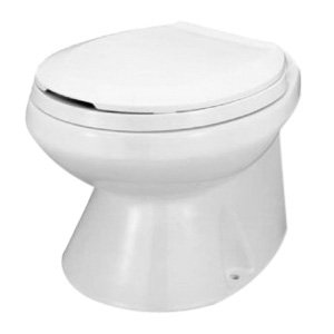 Jabsco 37075-0092 Marine Electric Toilet With Quiet-Flush System, 1 - 2 qt Flush, 12 VDC, 25 A