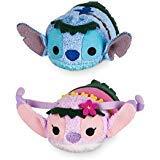 "Disney Store Mini Tsum Tsum Special Hawaii Set of 2 Stitch and Angel 3.5"" Plush Toys"