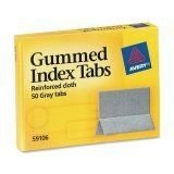 Gummed Index Tabs Reinforced Cloth - Avery Gummed Index Tabs, 50 Tabs (59106)