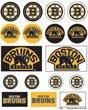 Wincraft NHL Boston Bruins Vinyl Sticker Sheet, 5'' x 7''