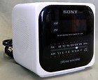 Vintage  Dream Machine AM/FM Radio Alarm Clock Model  White - Sony ICF-C120