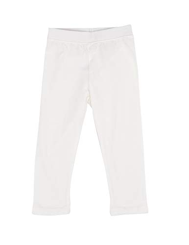 Leveret Solid Girls Legging Off White (12 Years)]()