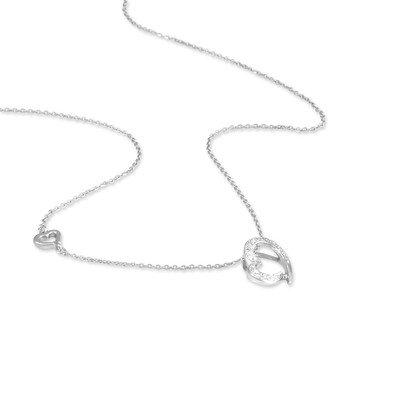 HISTOIRE D'OR - Collier Or et Diamant - Femme - Or blanc 375/1000 - Taille Unique