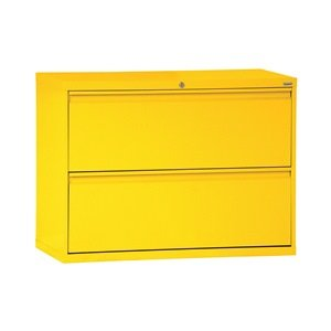 Sandusky Lee LF8F302-09 800 Series 2 Drawer Lateral File Cabinet 19.25 Depth x 28.375 Height x 30 Width Black
