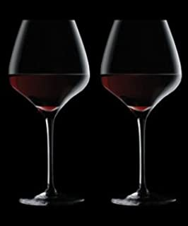 the one red wine glass non lead crystal clear 2 pack