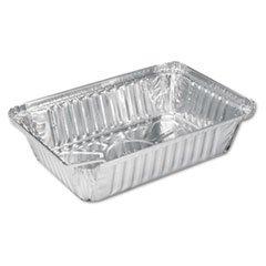 Handi-Foil HFA206230 Aluminum Oblong Pan 2 1/4 lb 8 1/2 x 5 15/16 x 1 13/16 500/Carton