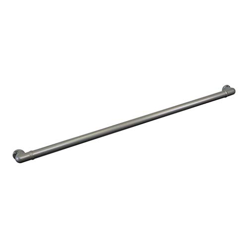 Aluminum Handrail Direct CHR 3' Handrail Section with Returns - ADA Compliant - Silver