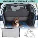 LIUJIR Car Barrier Pet Protection Backseat Mesh Dog Car Divider Net with Adjusting Rope and Hook Pet Fence Anti-Collision