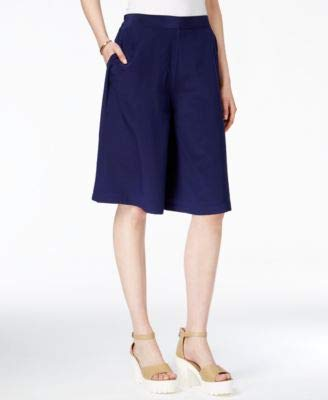 A|X Armani Exchange Armani Exchange Womens Silk Pull-On Culottes Blue - Armani Suits Jeans